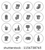 drink icons set   vector glass... | Shutterstock .eps vector #1156738765
