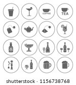 drink icons set   vector glass... | Shutterstock .eps vector #1156738768