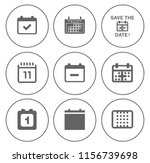 calendar icons set   time  ... | Shutterstock .eps vector #1156739698