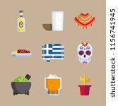 9 mexico icons set | Shutterstock .eps vector #1156741945