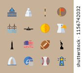 usa vector icons set. gateway... | Shutterstock .eps vector #1156742032