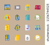 archive icons set. business ... | Shutterstock .eps vector #1156744525