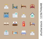 suite vector icons set. beds ... | Shutterstock .eps vector #1156744648