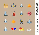 16 fire icons set | Shutterstock .eps vector #1156747642