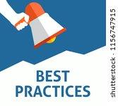 best practices announcement....   Shutterstock .eps vector #1156747915