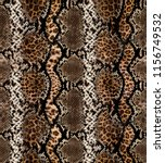 Small photo of snake skin And leopard pattern