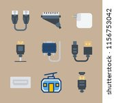 9 cable icons set | Shutterstock .eps vector #1156753042