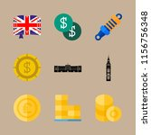 9 english icons set | Shutterstock .eps vector #1156756348