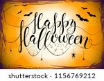 thematic postcard to helloween... | Shutterstock .eps vector #1156769212