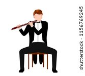 isolated musician icon | Shutterstock .eps vector #1156769245