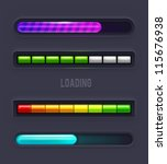 progress bars. vector | Shutterstock .eps vector #115676938