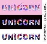 "the word ""unicorn"" is written... | Shutterstock .eps vector #1156771852"