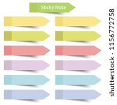 colorful sticky notes on white... | Shutterstock .eps vector #1156772758