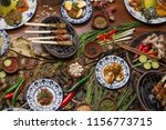 many different indonesian food... | Shutterstock . vector #1156773715