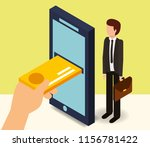 businessman smartphone credti... | Shutterstock .eps vector #1156781422