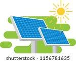 solar battery. vector...   Shutterstock .eps vector #1156781635