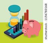 business smartphone hourglass... | Shutterstock .eps vector #1156783168