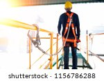 construction worker use safety... | Shutterstock . vector #1156786288