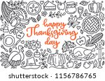 happy thanksgiving day poster... | Shutterstock .eps vector #1156786765