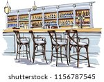 bar interior sketch