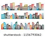 city design with illustrations... | Shutterstock .eps vector #1156793062