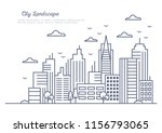 line art vector illustration... | Shutterstock .eps vector #1156793065