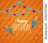 happy birthday card | Shutterstock .eps vector #1156797082