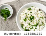 cottage cheese garnished with... | Shutterstock . vector #1156801192