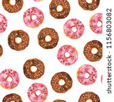 seamless pattern with chocolate ... | Shutterstock . vector #1156803082