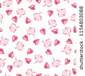 seamless pattern with pink... | Shutterstock . vector #1156803088