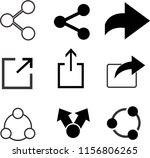 set of share icons  | Shutterstock .eps vector #1156806265