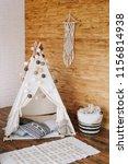 interior of bedroom with bed in ...   Shutterstock . vector #1156814938
