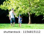 father and daughter playing in... | Shutterstock . vector #1156815112