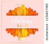 trendy and elegant autumn... | Shutterstock .eps vector #1156817485