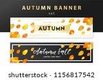 trendy and elegant autumn... | Shutterstock .eps vector #1156817542