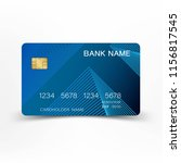 modern credit card template... | Shutterstock .eps vector #1156817545