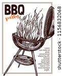barbecue vector hand drawn...   Shutterstock .eps vector #1156832068