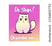 vector illustration  swearing... | Shutterstock .eps vector #1156832752