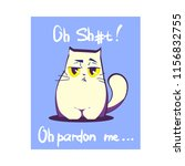 vector illustration  swearing... | Shutterstock .eps vector #1156832755