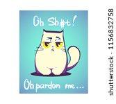vector illustration  swearing...   Shutterstock .eps vector #1156832758