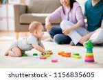 family  parenthood and people...   Shutterstock . vector #1156835605