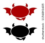 emblem of a demon style on a... | Shutterstock .eps vector #1156841605