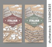 two vintage banners with rome... | Shutterstock .eps vector #1156842835