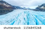 beautiful glaciers flow through ... | Shutterstock . vector #1156845268