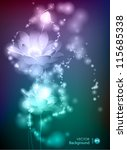 lotus. abstract glowing... | Shutterstock .eps vector #115685338