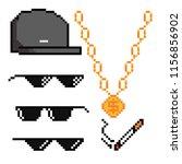 boss or gangster pixelated... | Shutterstock .eps vector #1156856902