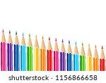 bright multicolor pencils... | Shutterstock .eps vector #1156866658
