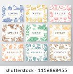 hand drawn nuts  spices and... | Shutterstock .eps vector #1156868455