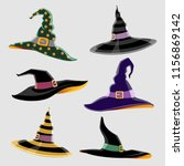 design elements for halloween.... | Shutterstock .eps vector #1156869142