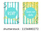 bridal shower set with dots and ... | Shutterstock .eps vector #1156880272